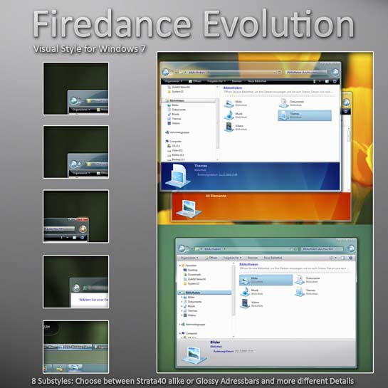 Firedance_Evolution_Window 7 theme