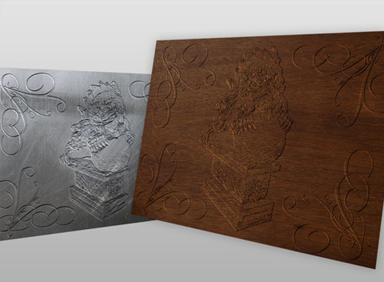 Relief Effect With Photoshop's 3D Tools