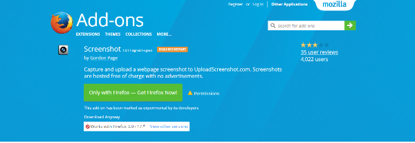 add ons to create screenshots