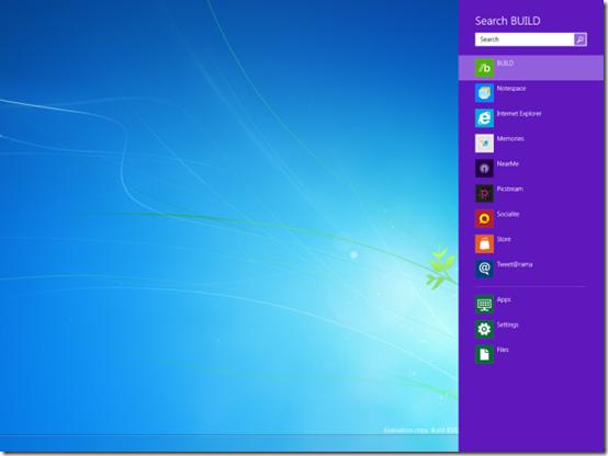 Blue Windows 8 start menu color