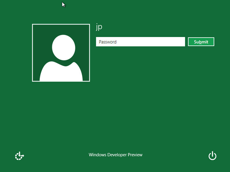 Windows 8 Log In Screen