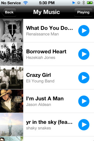 songspin online iphone radio app