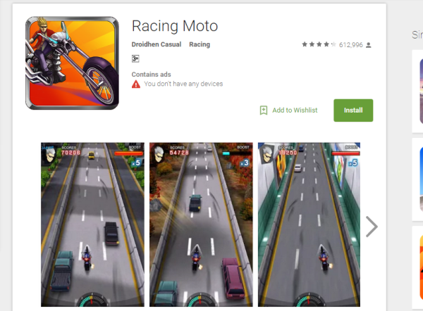 motion sensor games for android