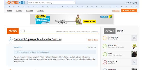 check songs lyrics