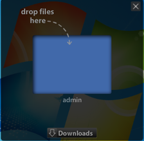 Filedrop file sharing app for mac
