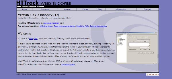 Download a complete website